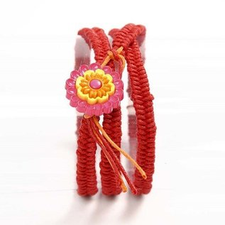 Embellishments / Verzierungen Motiv knapper, 20 mm, blomster, 6 stk.
