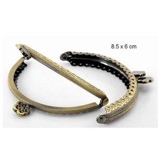 Embellishments / Verzierungen 1 Täschen metal bracket in antique gold