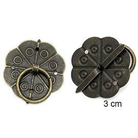 Embellishments / Verzierungen 2 Scrapbook håndtere i metall, montert med skruer med Brad