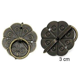 Embellishments / Verzierungen 2 Scrapbook poignée en métal, monté avec des vis avec Brad