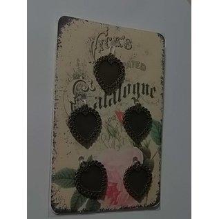 Embellishments / Verzierungen Cadre en métal - 5 pièces