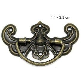 Embellishments / Verzierungen Scrapbook griff in Metall, 5 Stück