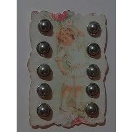 Embellishments / Verzierungen 10 Perlmut brad, 12 mm