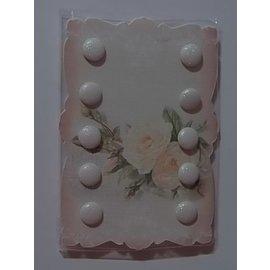 Embellishments / Verzierungen 10 Glitter Brads, 10 milímetros