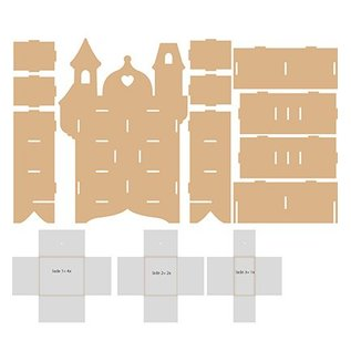 Objekten zum Dekorieren / objects for decorating Sammlerkästchen,MFD, 254 x 104 x 360 mm