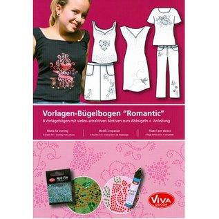 """Skabelon Strygejern ark A4 """"Romantic"""""""