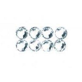 Cuentas de cristal de Swarovski para el hierro, 3 mm, ficha-blister de 20 piezas, cristal