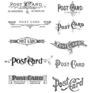 Tim Holtz Gemonteerd zegel, stamper Postkaarten CMS099