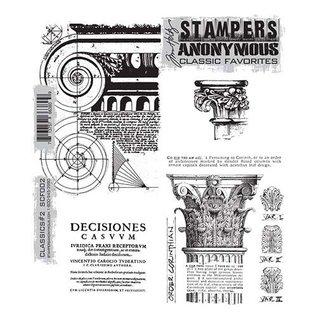 Tim Holtz Mounted stamp,classics 2 scf002