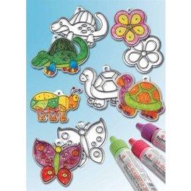 Kinder Bastelsets / Kids Craft Kits Pingentes em acrílico, desenhos diferentes