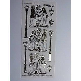 Sticker Ziersticker, sehr detailliert geprägt, 10 x 23cm.