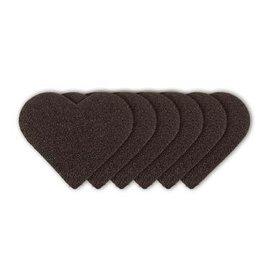 """FARBE / STEMPELINK Dispositivo angosciante, """"attacco di cuore"""" + 3 pezzi di carta vetrata a forma di disco"""