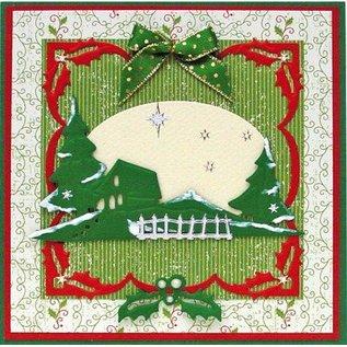 Leane Creatief - Lea'bilities Skæring og prægning stencils Lea'bilities, jul grænser.