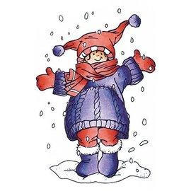 Marianne Design Transparante stempels, ik houd van sneeuw
