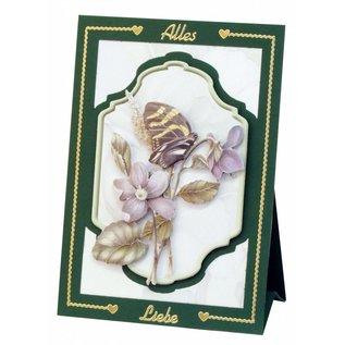 BASTELSETS / CRAFT KITS Komplet Bastelset, notecards Staf Wesenbeek, Set 1 blomster med sommerfugle