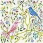 DECOUPAGE AND ACCESSOIRES Ontwerper servetten, afmeting 33x33 cm, paradijsvogels, 5 stuks