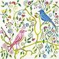 DECOUPAGE AND ACCESSOIRES serviettes de créateurs, taille 33x33 cm, oiseaux de paradis, 5 pièces