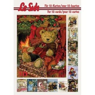 Bücher und CD / Magazines Le Suh, 3D Buch A5, Beren Decoupage Bogen.