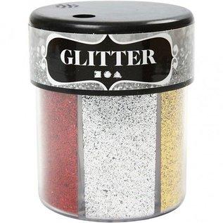 BASTELZUBEHÖR, WERKZEUG UND AUFBEWAHRUNG Glitter sortiment, 6x13 g