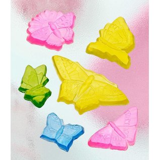 GIESSFORM / MOLDS ACCESOIRES Seifengießform med 6 sommerfugle, 5-12cm