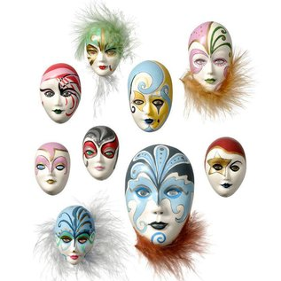 GIESSFORM / MOLDS ACCESOIRES Mold: Mini Smykker Masker, 4-8cm, uden dekoration, 9 stk, 130 g materielle krav.