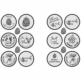 Embellishments / Verzierungen Selvklæbende mærkat Scene