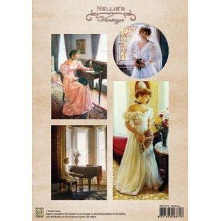 Nellie Snellen Marianne Design, A4 papir, farve vintage venter.