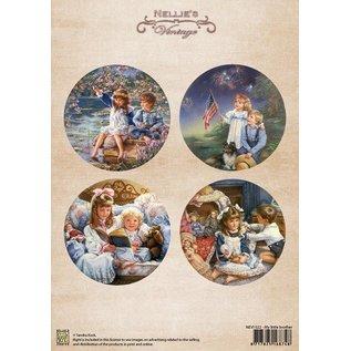 Nellie Snellen Nellie Snellen, A4 Blatt, vintage my little brother