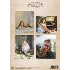 Nellie Snellen A4 Blatt, vintage little sister