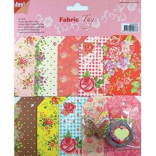 Textil Nostalgisk stof etiketter tags, sorteret 30Stück, 6013-0781