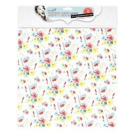 Textil Fleurs en tissu auto-adhésifs, 30,5 x 30,5 cm
