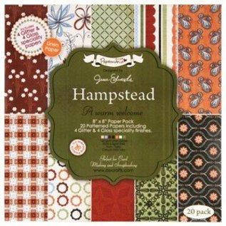DESIGNER BLÖCKE / DESIGNER PAPER 20x20cm, papier de concepteur, paquet de papier de spécialité - Hampstead par Jesse Edwards, 20 feuilles