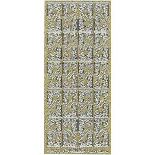Sticker Glitter Ziersticker, 10 x 23cm, große Sterne, gold-silber