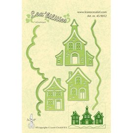 Leane Creatief - Lea'bilities Stanzschablonen: hübsche Häuser, Stanz- und Prägeschablonen