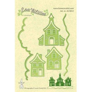 Leane Creatief - Lea'bilities Lea'bilitie, mooie huizen, snijden en embossingstencils
