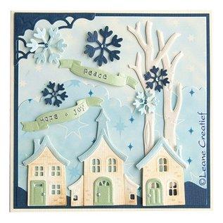 Leane Creatief - Lea'bilities Lea'bilitie, pretty houses, cutting and embossing stencils