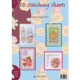 Bücher und CD / Magazines Buch mit 3D und Stitching Sheets Nr.1