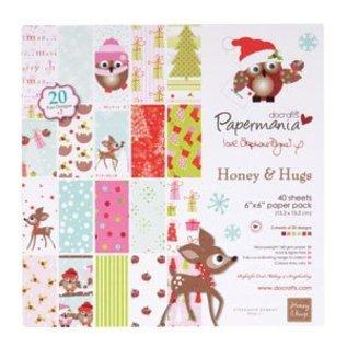 Docrafts / Papermania / Urban paper pack, 15 x 15cm, (160gsm) - h&h festive frolics (40pk)