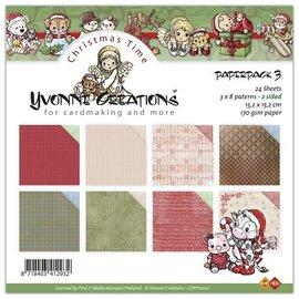 DESIGNER BLÖCKE / DESIGNER PAPER Yvonne Creations - Paperpack, 24 Blatt, 15 x 15cm