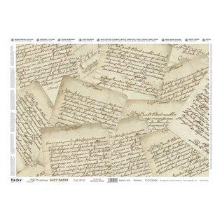 DECOUPAGE AND ACCESSOIRES Decoupage, Precious Soft Paper 35x50cm, Precious Letters.