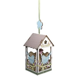 Objekten zum Dekorieren / objects for decorating 2 birdhouse de madeira, 6x4,5cm