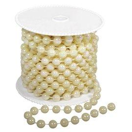 DEKOBAND / RIBBONS / RUBANS ... Grande colar de pérolas, 8 mm, cor creme,