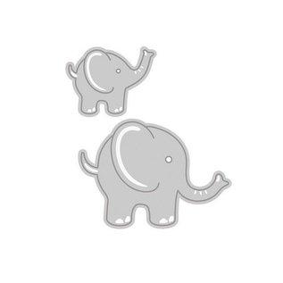 Tonic Stansning og prægning skabelon: 2 søde Olifanten