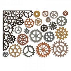 Sizzix Stampaggio e goffratura stencil Sizzix Thinlits, ingranaggi e bordi