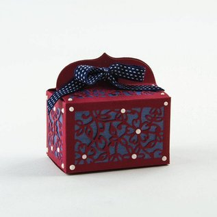 Tonic Punching and embossing template: A filigree 3D box