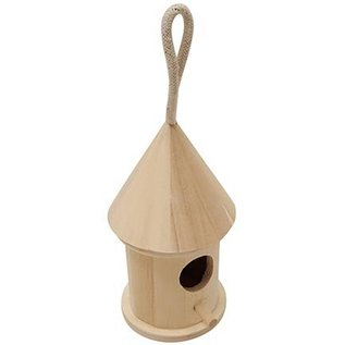 Objekten zum Dekorieren / objects for decorating Decoratieve vogelhuisjes, 7cm x 13cm hoog rond