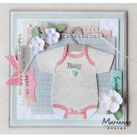 Marianne Design stampi di taglio, onesies bambino di Eline con appendiabiti