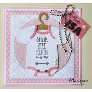 Marianne Design Stamping templates, Eline's baby creeper with hangers