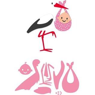 Marianne Design Stanzschablonen, Eline's Storch mit Baby