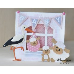 Marianne Design Punching templates, Eline's stork with baby